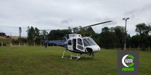 Helicóptero do Consamu realiza transferência de jovem de 18 anos em Vera Cruz do Oeste