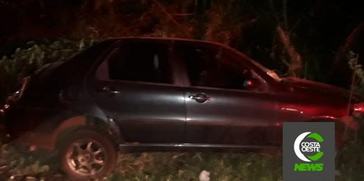 Homem fica ferido em capotamento durante a madrugada na PR 317 em Santa Helena