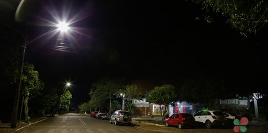 Iluminação nas proximidades do Terminal Rodoviário Municipal de Missal é substituída por Led