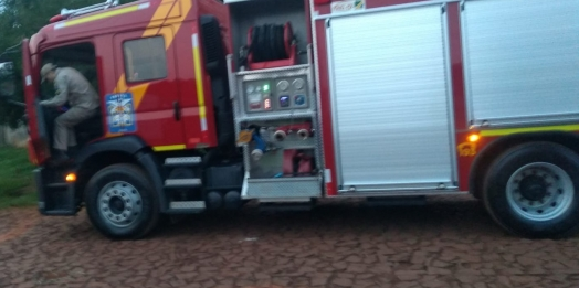 Incêndio em residência é registrado em Medianeira