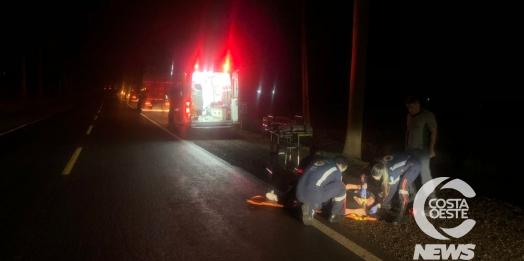 Jovem é encontrada caída sobre a PR 488 em Santa Helena