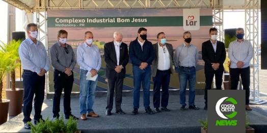Lar Cooperativa recebe o Governador em Exercício, Darci Piana, em visita técnica no novo complexo
