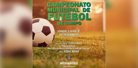 Medianeira retoma atividades esportivas com Campeonato Municipal de Futebol de Campo