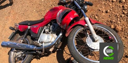 Motociclista é encaminhado para Toledo após acidente na PR 495 em Entre Rios do Oeste
