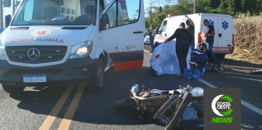 Motociclista tem perna e braço decepados em acidente na PR 488 em Santa Helena