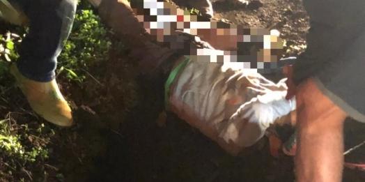 Motociclista tem fratura exposta após acidente na PR 317 em Santa Helena