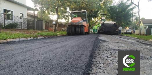 Obras de recapeamento asfáltico iniciam no bairro Vila Rica em Santa Helena