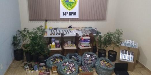 Operação Vida: Ação conjunta apreende mais de R$ 30 mil, armas e drogas na região