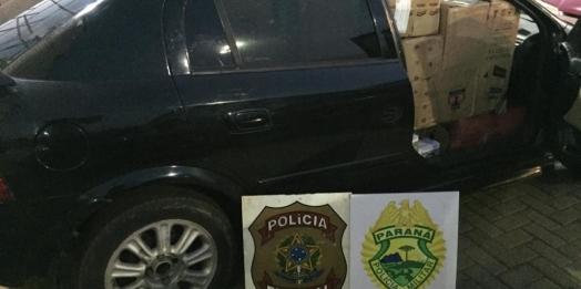 PF e BPFRON apreendem oito veículos carregados com contrabando; prejuízo é de R$ 1 milhão ao crime
