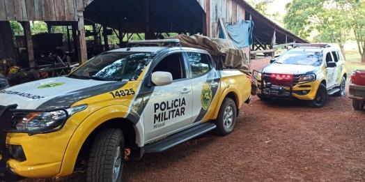 PM apreende cigarros contrabandeados e prende dono de chácara em Itaipulândia