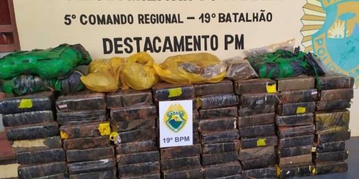 PM de Entre Rios do Oeste apreende cerca de 630 quilos de maconha no interior