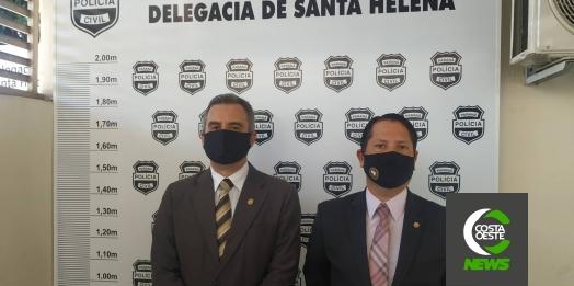 Polícia Civil e MP apreendem materiais que devem auxiliar em investigações contra fraudes em licitações em Santa Helena e São Miguel