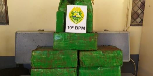 Polícia Militar apreende mais de 130kg de maconha no interior de Santa Helena