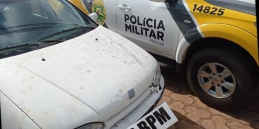 Polícia Militar apreende veículo usado para descer as escadarias da igreja em Missal
