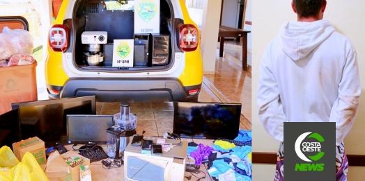 Polícia Militar de Itaipulândia recupera objetos furtados em estabelecimento de ensino
