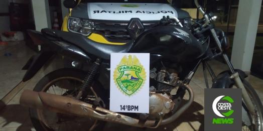 Polícia Militar de Itaipulândia recupera motocicleta furtada em Campo Mourão