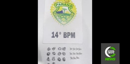 Polícia Militar de Medianeira apreende crack e cocaína no Ipezinho