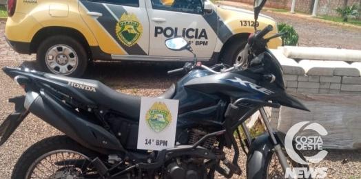 Polícia Militar de Medianeira recupera motocicleta furtada
