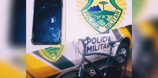 Polícia Militar de Missal apreende adolescente e recupera objetos furtados em Santa Helena