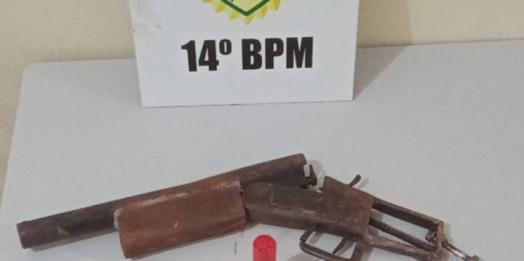 Polícia Militar localiza arma artesanal usada em roubo em Serranópolis do Iguaçu