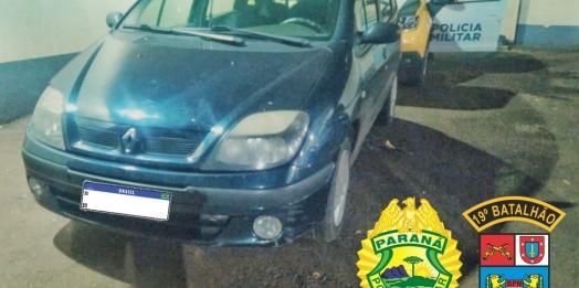 Polícia Militar recupera veículo furtado em Santa Helena durante operação de trânsito