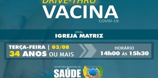 População de 34 anos será vacinada contra Covid-19 terça-feira (03) em São Miguel
