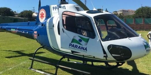 Portão cai e atinge cabeça de criança em Pato Bragado; helicóptero do Consamu foi acionado