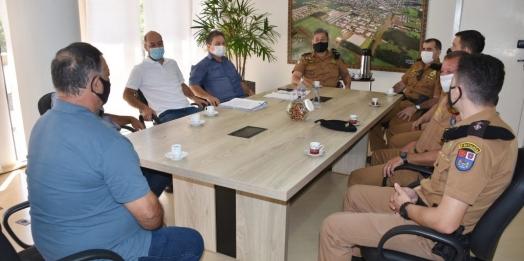 São Miguel do Iguaçu: Prefeitura recebe visita do comando regional da Polícia Militar