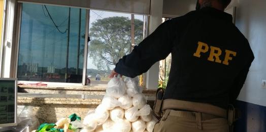 PRF apreende cocaína com duas mulheres na BR 277, em Santa Terezinha de Itaipu