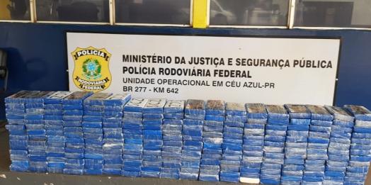 PRF apreende R$ 10 milhões em cocaína em fundo falso de van na região
