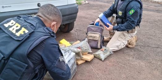PRF prende duas pessoas por tráfico de drogas em Santa Terezinha de Itaipu
