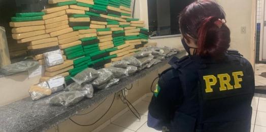 PRF prende mãe e filho e outras três pessoas por tráfico em Guaíra