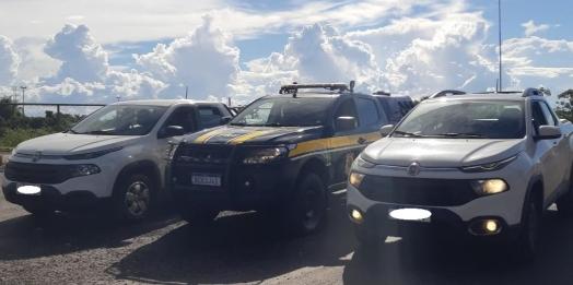 PRF recupera duas Fiat/Toro em Guaíra