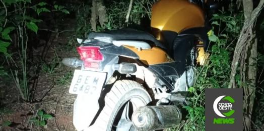 Quatros horas após ser comunicada, PM recupera moto roubada em Santa Helena