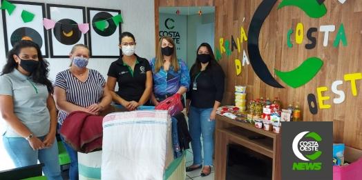 Rádio Costa Oeste 106,5 FM faz repasse de alimentos e roupas arrecadadas durante o Arraiá Solidário