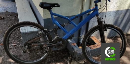 Rapaz que confessou vários furtos em Santa Helena é preso novamente em flagrante pela Polícia Militar com bicicleta furtada