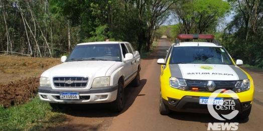 S-10 furtada em Santa Helena é recuperada em São Miguel do Iguaçu pela PM