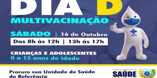 Sábado (16) é dia D da Campanha Nacional de Multivacinação para crianças e adolescentes em SMI