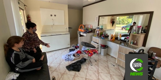 Salão de Beleza é alvo de assalto e prejuízo já passa dos R$ 4 mil em Medianeira