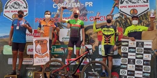 Santa-helenense é vice-campeão em competição de ciclismo em Corbélia