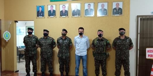 Tiro de Guerra de Medianeira recebe a visita do comandante do 34º Batalhão de Infantaria Mecanizado