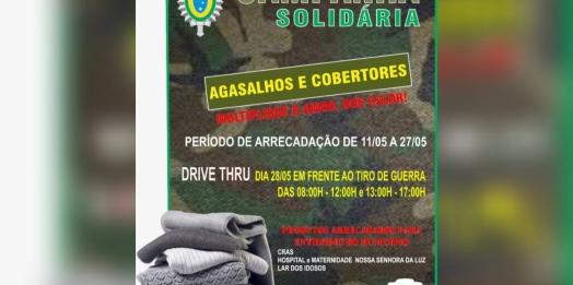 Tiro de Guerra realiza Campanha para arrecadação de agasalhos e cobertores