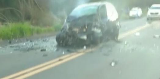 Tragédia: Gravíssimo acidente na BR-272 entre Guaíra e Terra Roxa deixa três mortos