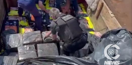 Três toneladas de maconha carregada em Santa Helena é apreendida na BR 277