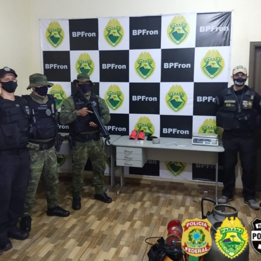 Ação policial em Guaíra detém três indivíduos, apreende drogas e objetos furtados