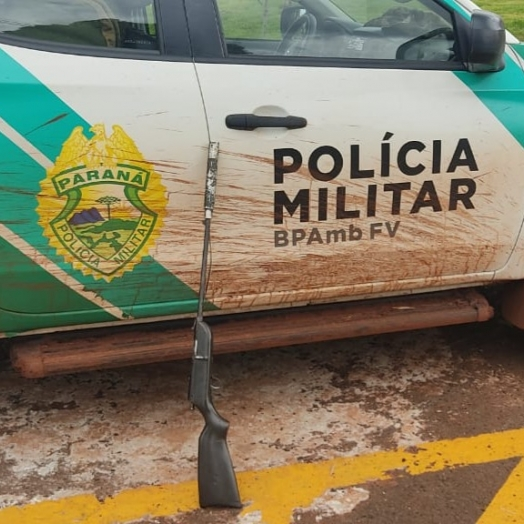 Armas de fogo, munições e armadilhas são apreendidas em São Miguel do Iguaçu