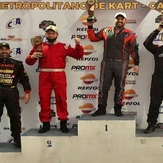 Atleta de Guaíra conquista Campeonato Metropolitano de Kart