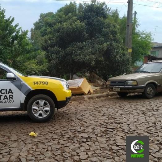 Belina furtada e usada em assalto é recuperada pela PM em São Miguel do Iguaçu