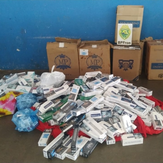 BPFRON apreende cigarros contrabandeados em Santa Helena
