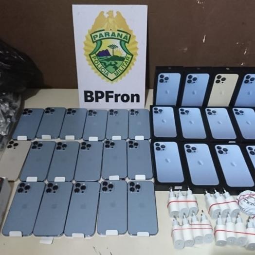 BPFRON apreende produtos contrabandeados durante abordagem em São Miguel do Iguaçu